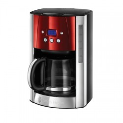Cafetiera Russell Hobbs Luna Solar Red 23240-56, 1000 W, 1.8 l, Display LCD, Timer, Rosu/Inox - 23240-56
