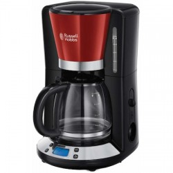 Cafetiera Russell Hobbs Colours Plus+ Red 24031-56, 1100 W, 1.25 L, Tehnologie WhirlTech, Rosu/Negru - 24031-56