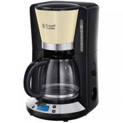 Cafetiera Russell Hobbs Colours Plus+ Cream 24033-56, 1100 W, 1.25 L, Tehnologie WhirlTech, Crem/Negru - 24033-56