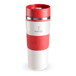 Cana termica, termos 380 ml - White & Red AURILE Thermal Mug